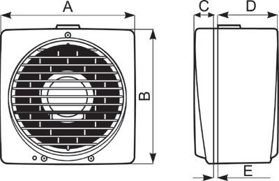 Вентилятор реверсивный Vortice Vario 150/6 AR, в описание