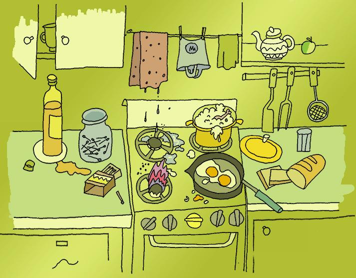 Картинки действий на кухне